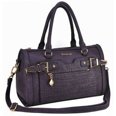 Sally Young New Design Bowling Bag With Belt - Purple Bowling Bags, News Design, Sally, Latest Fashion, Belt, Handbags, Purple, Collection, Belts