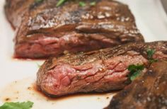 Bison Skirt Steak Recipe: Did this inside on an electric stove. It will get smoky be sure to turn on exhaust and doors! Going to try to add some mint next time. #bison