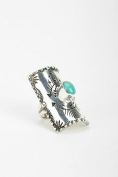 Spell & The Gypsy Collective Turquoise Finger Shield Ring #urbanoutfitters