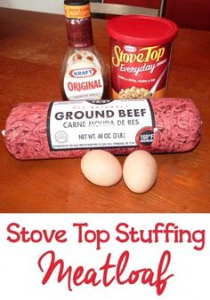 Stove Top Meatloaf - Stove Top Stuffing Meatloaf – Ingredients: 2 lbs ground meat 1 cup barbecue sauce (or ketchup) 1 - Meatloaf With Bbq Sauce, Stove Top Stuffing Meatloaf, Easy Meatloaf, Meatloaf Recipes, Meat Recipes, Cooking Recipes, Meatloaf With Stuffing Mix Recipe, Sides For Meatloaf, Pastries