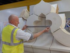 Our HathernTerraCotta team completed buff terracotta domes for the Victorian Quarter, Leeds