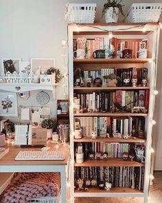 Room Ideas Bedroom, Bedroom Decor, Nerd Bedroom, Study Room Decor, My New Room, My Room, Bookshelf Inspiration, Indie Room, Cute Room Ideas