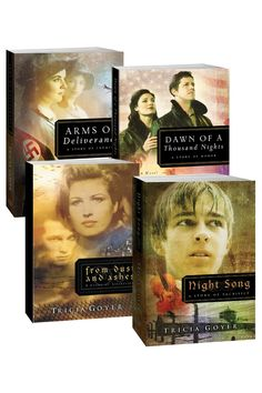 Tricia Goyer WWII Series: From Dust and Ashes, Night Song, Dawn of a Thousand Nights, and Arms of Deliverance.