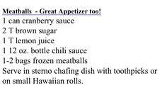 Meatballs // super-easy appetizer