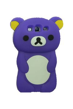 HHI Cute Panda Skin Case for Samsung Galaxy S3 Case - Purple