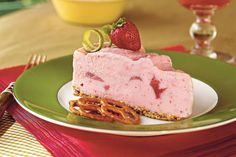 Spiked Strawberry-Lime Ice-Cream Pie - Parlor-Perfect Ice-Cream Cakes and Pies - Southernliving. A salty pretzel crust and sweet strawberry ice cream combine for a unique taste in this frozen treat. Add ½ cup of tequila to give it an adult-only kick.  Recipe:Spiked Strawberry-Lime Ice-Cream Pie