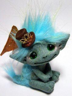 OOAK Steampunk Fairy Dragon Trollfling Troll by Trollflings