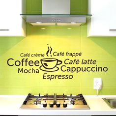 Style and Apply Coffee World Wall Decal Color: Green