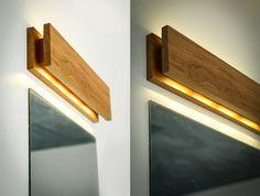 muur lamp SC 48 handgemaakte. eik. Schans. houten Schans.