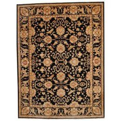 awesome Herat Oriental Afghan Hand-knotted Vegetable Dye Oushak Black/ Black Wool Rug (8'6 X 11'2) Check more at http://yorugs.com/shop/herat-oriental-afghan-hand-knotted-vegetable-dye-oushak-black-black-wool-rug-86-x-112-2/