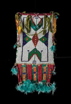 Sioux Beaded and Quilled Mirror Bag