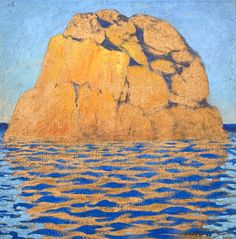 Rocher à Ploumanach. 1917 FELIX VALLOTTON  (1865 – 1925) was a Swiss painter and printmaker associated with Les Nabis. He was an important figure in the development of the modern woodcut.