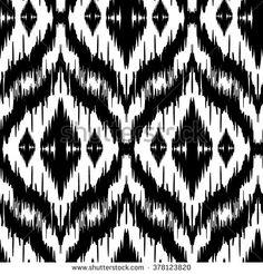 Ikat Pattern : images, photos et images vectorielles de stock Motif Ikat, Ikat Pattern, Pattern Art, Pattern Design, Print Design, Textile Design, Fabric Design, Tribal Wallpaper, Textiles