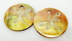 Dragonfly Black Lip Shell Beads  Dragonfly Beads by HazelsBeadShop, $8.00