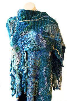blue wrap by Prudence Mapstone by freeform by prudence, via Flickr