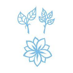 Marianne Design Creatables Dies - Flowers & Leaves LR0156