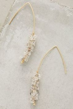 Anthropologie Crystallized Open Hoops #anthrofave