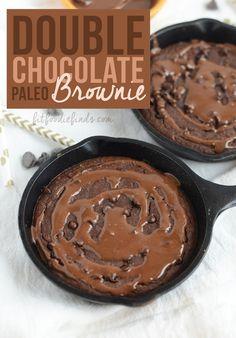 Double Chocolate Paleo Brownie #singleserve #dessert #glutenfree