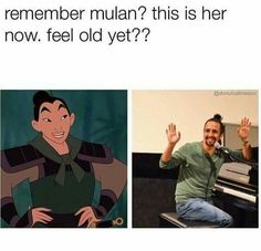 Uh, that's not Mulan. If you watch the movie you'll realize that's actually Ping.