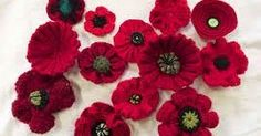 Great Lakes 5000 Poppies Project: Knitted poppy patterns lest we forget, Remembrance Day in wool and thought Knitted Poppy Free Pattern, Crochet Poppy, Poppy Pattern, Crochet Flower Patterns, Knitting Patterns Free, Free Knitting, Knit Crochet, Knit Patterns, Knitted Poppies