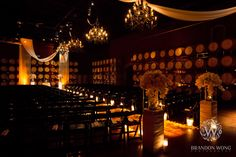 Drapery and GOBO Washes at the Palm Event Center