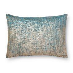 Blue Metallic Oblong Throw Pillow - Threshold™ : Target