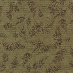 The Potting Shed Fern 6622 13 from Moda Fabrics and Holly Taylor Muted Colors, Green And Brown, Ferns, Bohemian Rug, Shed, Floral, Inspiration, Fabrics, Design
