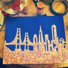 Golden Gate Bridge painting for my boyfriend