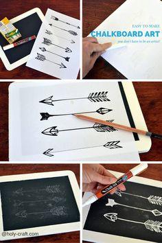 Holy Craft: Easy chalkboard art tutorial