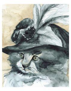 Art de cher coeur-chat