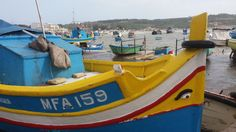 Traditional boats in the fish vilage of Marsaxklokk in Malta Malta, Places Ive Been, Boats, Fish, Traditional, Malt Beer, Ships, Grout, Boat