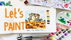 Painting a landscape with danielsmith watercolours in encode travel sketchbook. Watercolor Landscape Paintings, Gouache Painting, Painting Tips, Painting Techniques, Easy Watercolor, Watercolour Tutorials, Travel Sketchbook, Watercolours, Landscapes