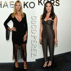 Heidi Klum & Olivia Munn Go For Cleavage-Showing Silhouettes At Michael Kors' NYFW Presentation!