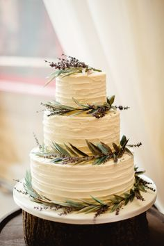 Buttercream Cake Lavender Relaxed Rustic DIY Barn Wedding http://www.wearethelous.com/