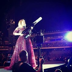"""Adele and a t shirt cannon! Lol! Perth, Australia. 2/28/17(@adelenow) on Instagram: """""""""""