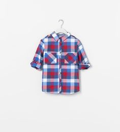 ZARA - KIDS - CHECKED SHIRT WITH ROLL-UP SLEEVES