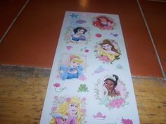 Glistening Disney Princesses Stickers
