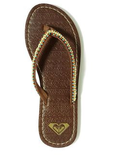 Beaded sandals #roxy #flipflops #macys BUY NOW!