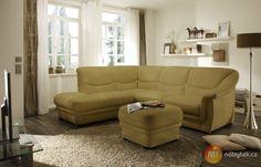 Moderní rohová sedací souprava Valeriano s taburetem #sofa #divan #settee #couch