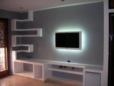 opere cartongesso Bedroom Furniture Design, Home Room Design, House Design, Farmhouse Shelves Decor, Interior Wall Design, Tv Wall Design, House Ceiling Design, Tv Room Design, Tv Wall Decor
