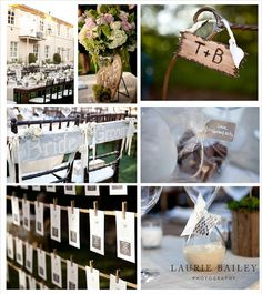 rustic chic wedding details long tables outdoor wedding