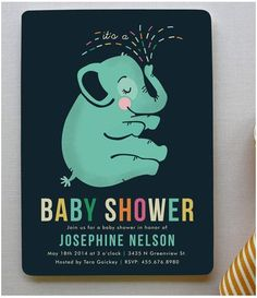 Find the #babyshower invitations of your dreams. #elephant