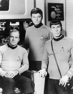 William Shatner, DeForest Kelley and Leonard Nimoy - Star Trek (1966)