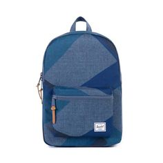 Herschel Supply Co. Settlement Mid-Sized Backpack - Navy with Rubber Accents - Geometric Pattern #backtoschool #2015