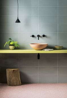 Discover our Pigment Light Grey Gloss Ceramic Tile. With cool tones & a modern feel, these light grey ceramic metro wall tiles are available to buy online. Bathroom Flooring, Bathroom Fixtures, Bathroom Furniture, Modern Furniture, Rustic Furniture, Furniture Projects, Bathroom Lighting, Decor Inspiration, Bathroom Inspiration