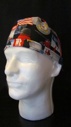 National Guard Military Tie Back Surgical Scrub Hat Cap by TipTopLids on Etsy