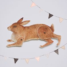 Rabbit download and print at home articulated paper animal by Julianna Swaney