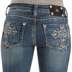 Miss Me Jeans #Miss_Me_Jeans #fashion #blue_jeans #love Miss Me Jeans - Embellished Cross Slim Fit