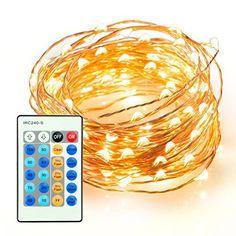 Guirlande Lumineuse 100 LED – Badalink 10M Ruban LED (Fil de Cuivre,10 Modes,10 Niveaux de Luminosité, Graduel, Etanche IP65) Etoiles…