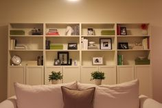 Billy bookcase with doors on bottom half
